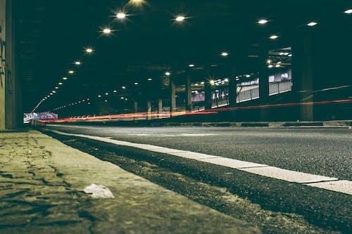 Gratis lagerfoto af gade, lang eksponering, lys, trafik