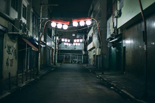 Free Stock Photo Of City Lights Night Street