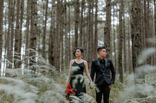 一對, 一起, 亞洲夫婦, 享受 的 免費圖庫相片