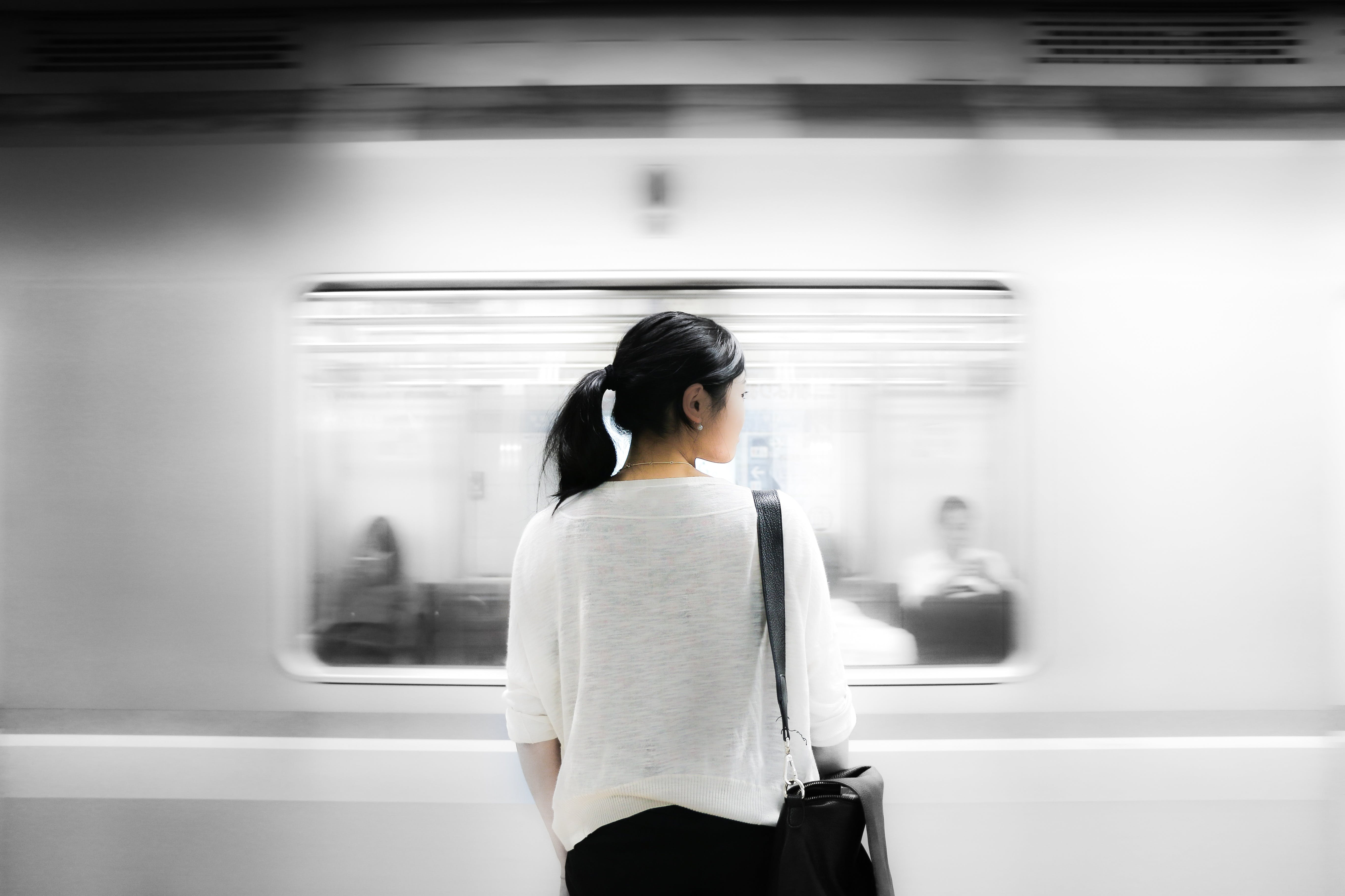 Free stock photo of woman, girl, station, hipster