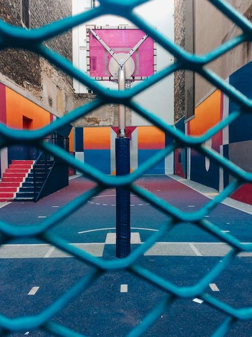 Niebiesko Czerwona Obręcz Do Koszykówki