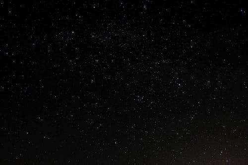 Starry dark sky at soundless night