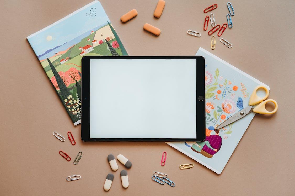 Photos gratuites de apprendre, cahiers, ciseaux