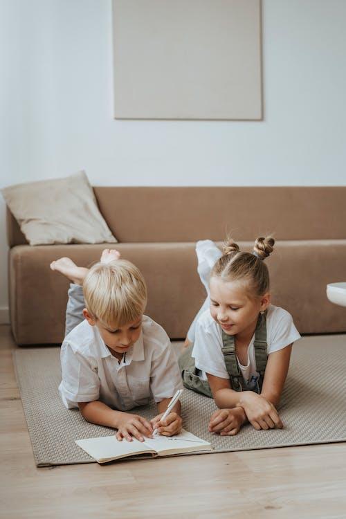Children Doing Homework
