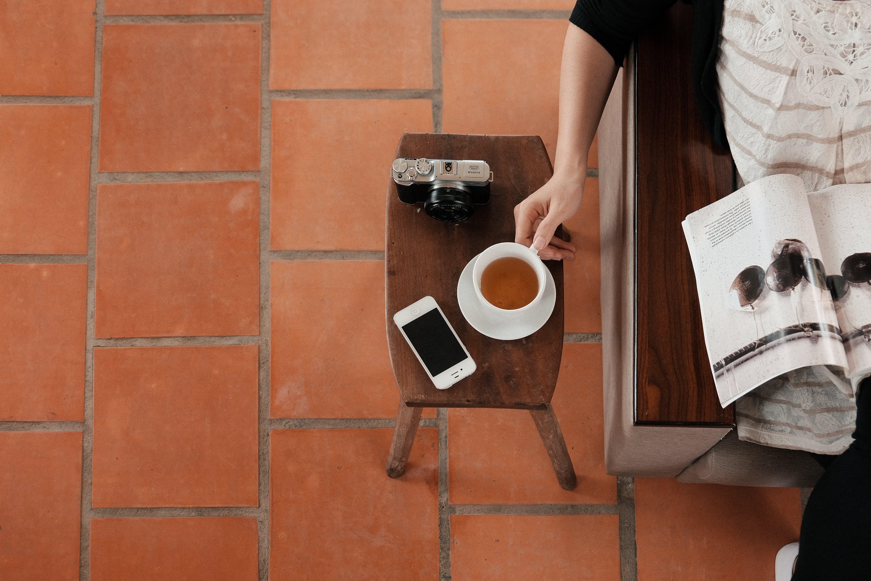 Free stock photo of woman, coffee, cup, mug