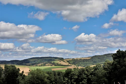 Free stock photo of bauschige wolken, Landschaft, natur