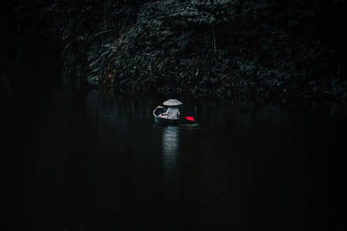 A Boatman in the Lake