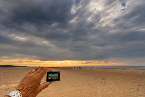 Free stock photo of beach, camera, gopro