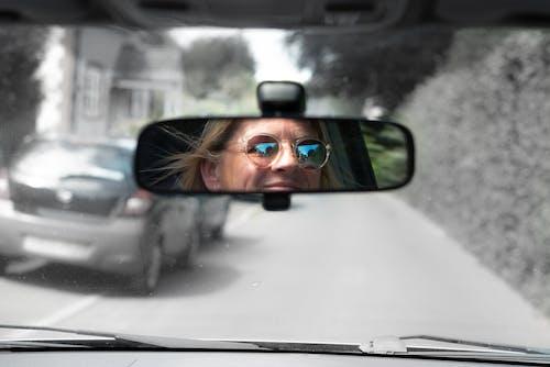 Free stock photo of car, dark glasses, driving