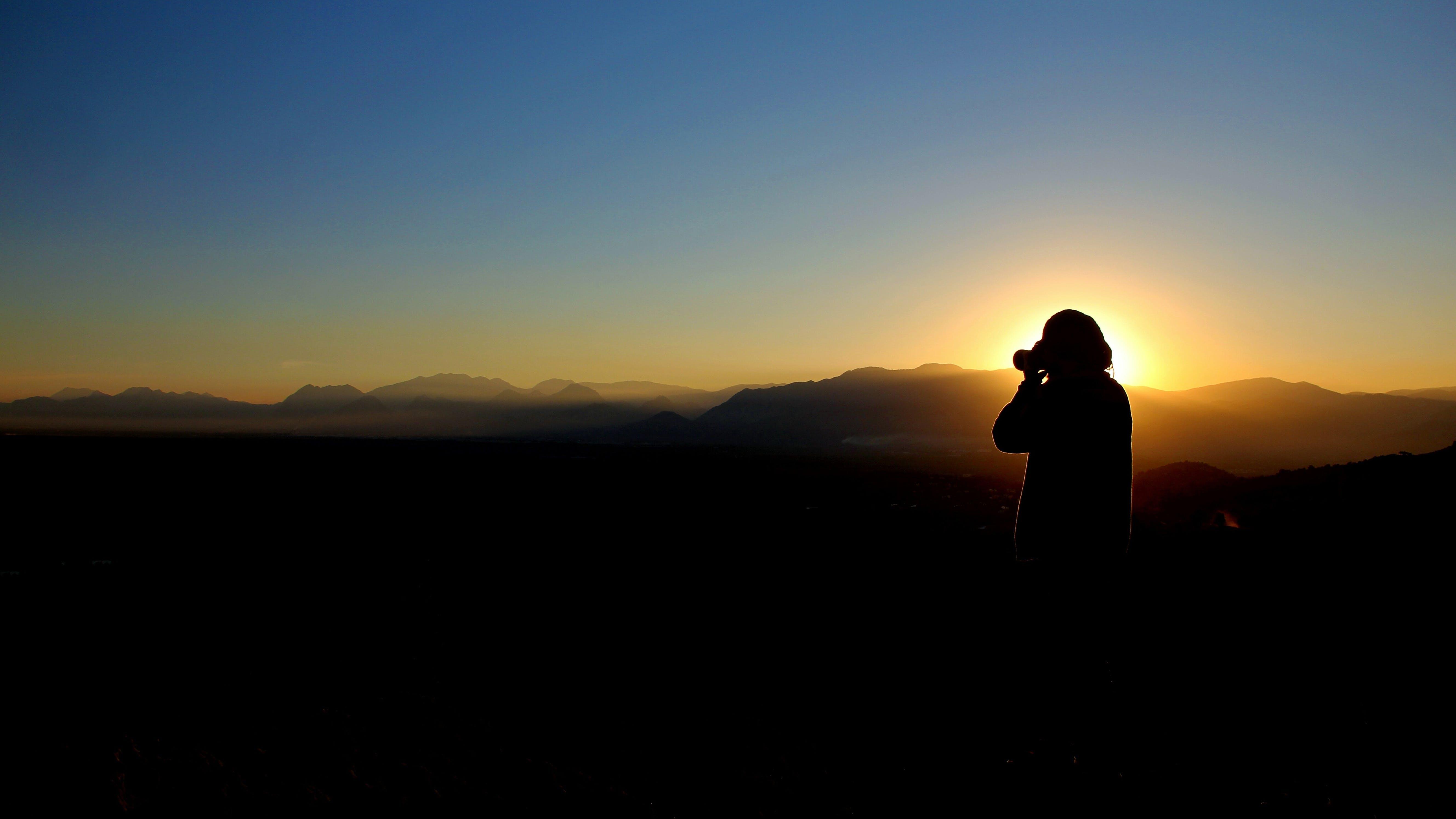 Free stock photo of dawn, landscape, sky, man