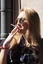 person, woman, cigarette