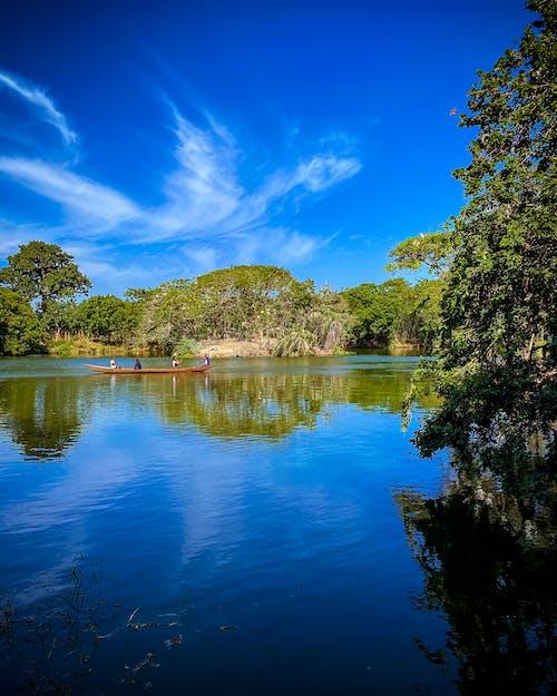 Free stock photo of blue sky, canoe, ghana
