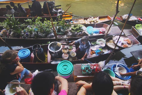 군중, 배, 보트, 상업의 무료 스톡 사진