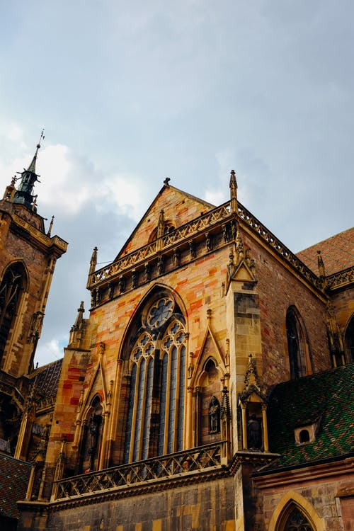 Facade of gothic church with