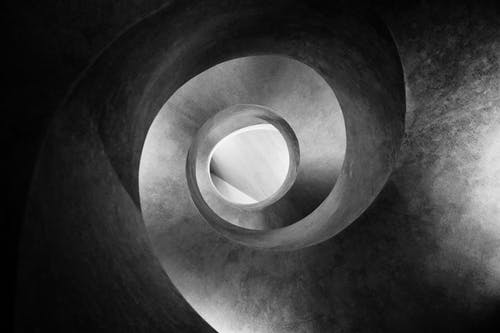 Abstract background with spiral concrete surface
