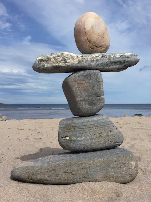 Fotobanka sbezplatnými fotkami na tému kamene, modrá obloha, more