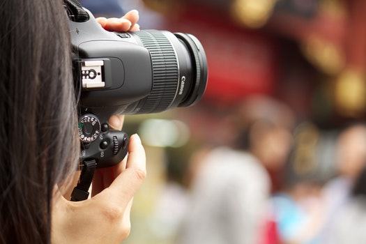 Free stock photo of camera, taking photo, girl, photographer