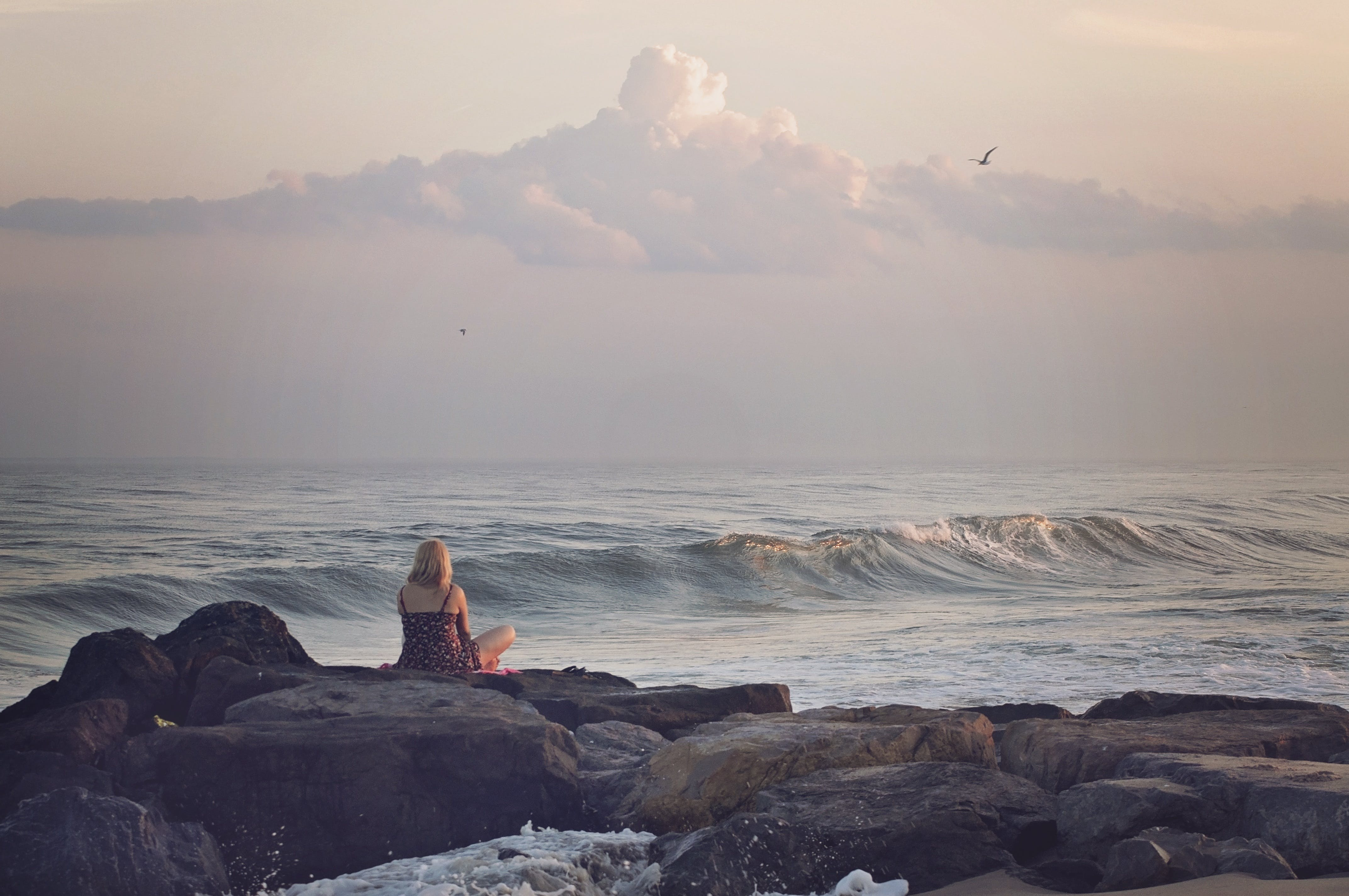 Foto stok gratis air, air laut, alam, batu
