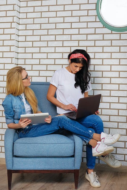 Female freelancers working from home