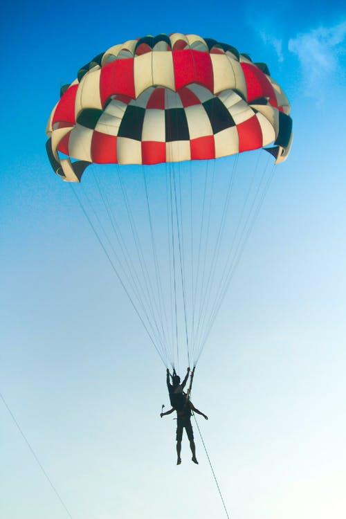 Free stock photo of blue, parachute, sky