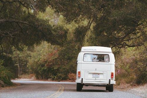 A White Van on Road