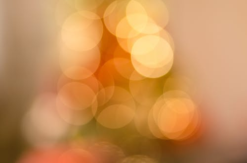 Bokeh Photography of Orange Lights