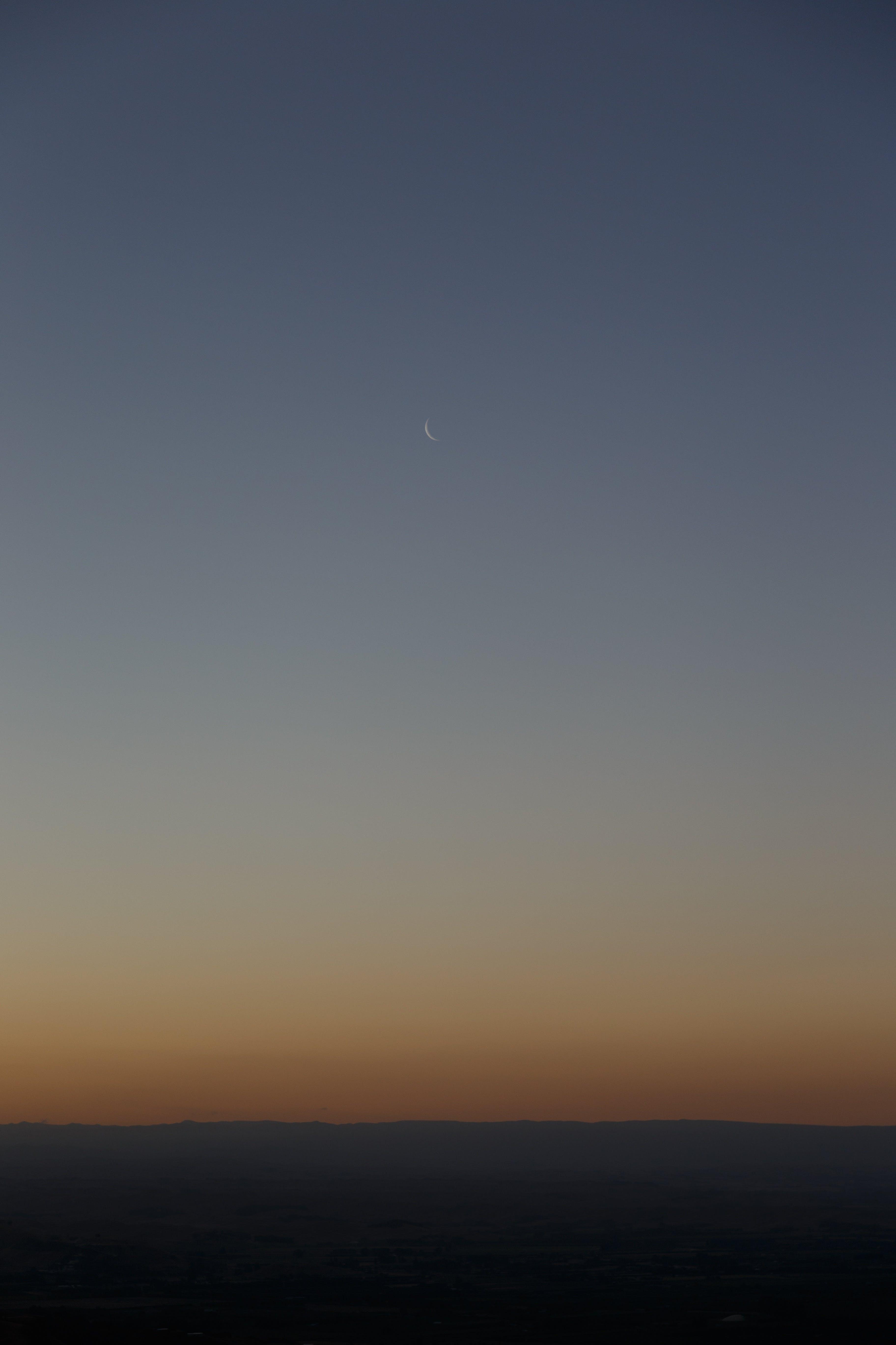 Free stock photo of dark, twilight, mountain, moon