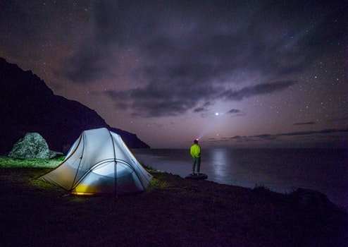 Free stock photo of night, adventure, camping, tent