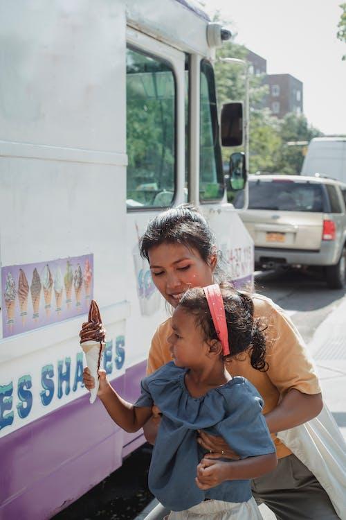 一起, 兒童, 冰淇淋 的 免费素材图片