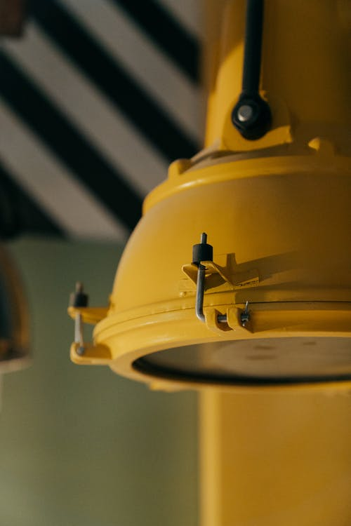 Yellow and Black Round Device