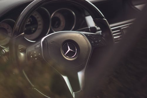 Steering Wheel of a Mercedes Benz