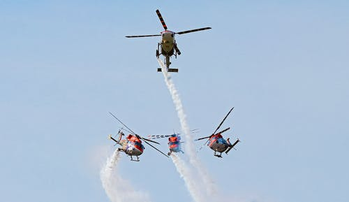 3 Fighter Planes in Mid Air