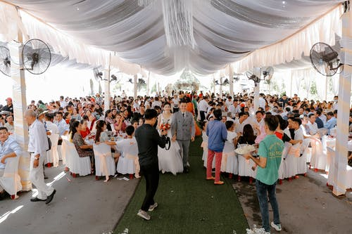 Group of people on wedding banquet