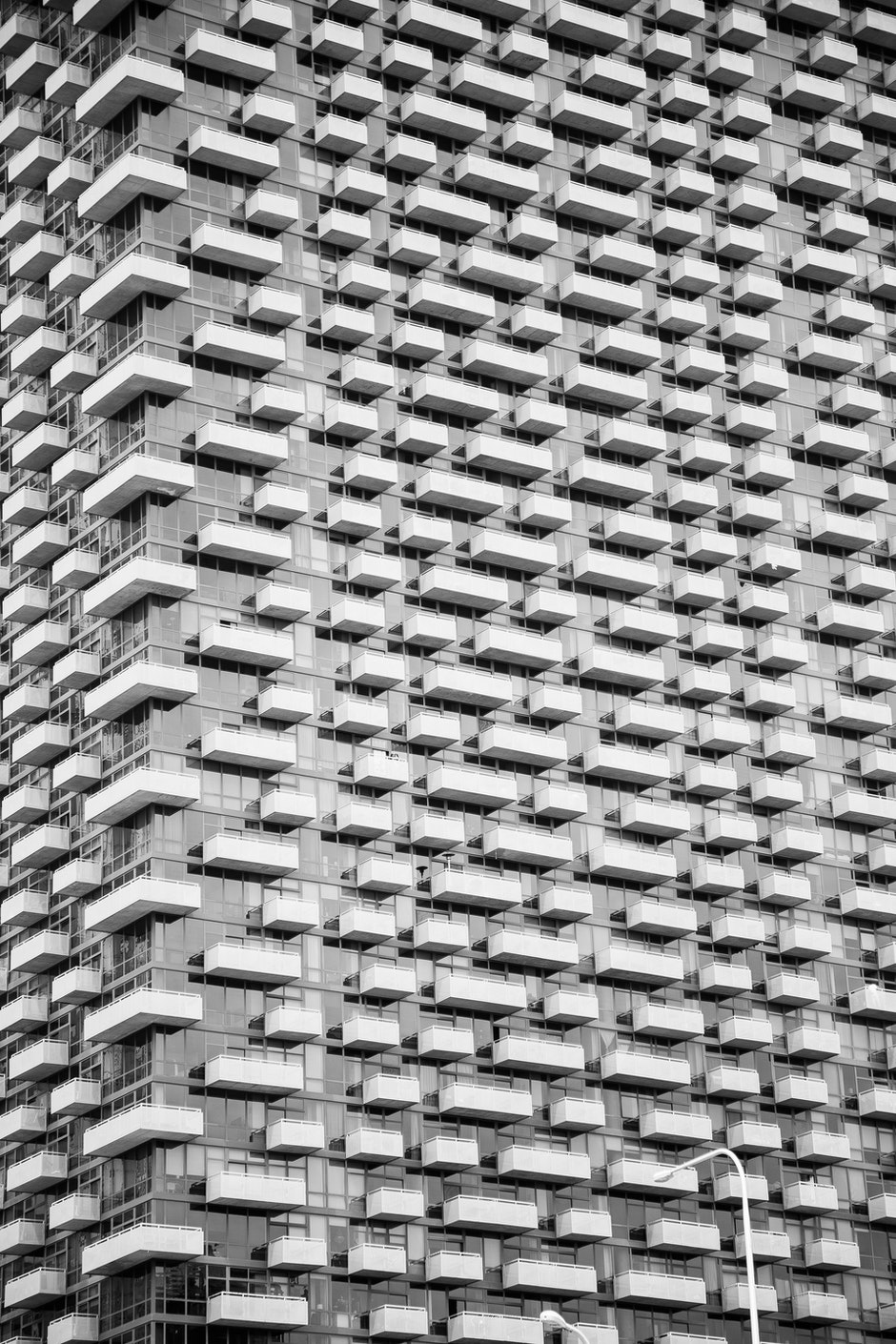 architecture, balconies, black-and-white
