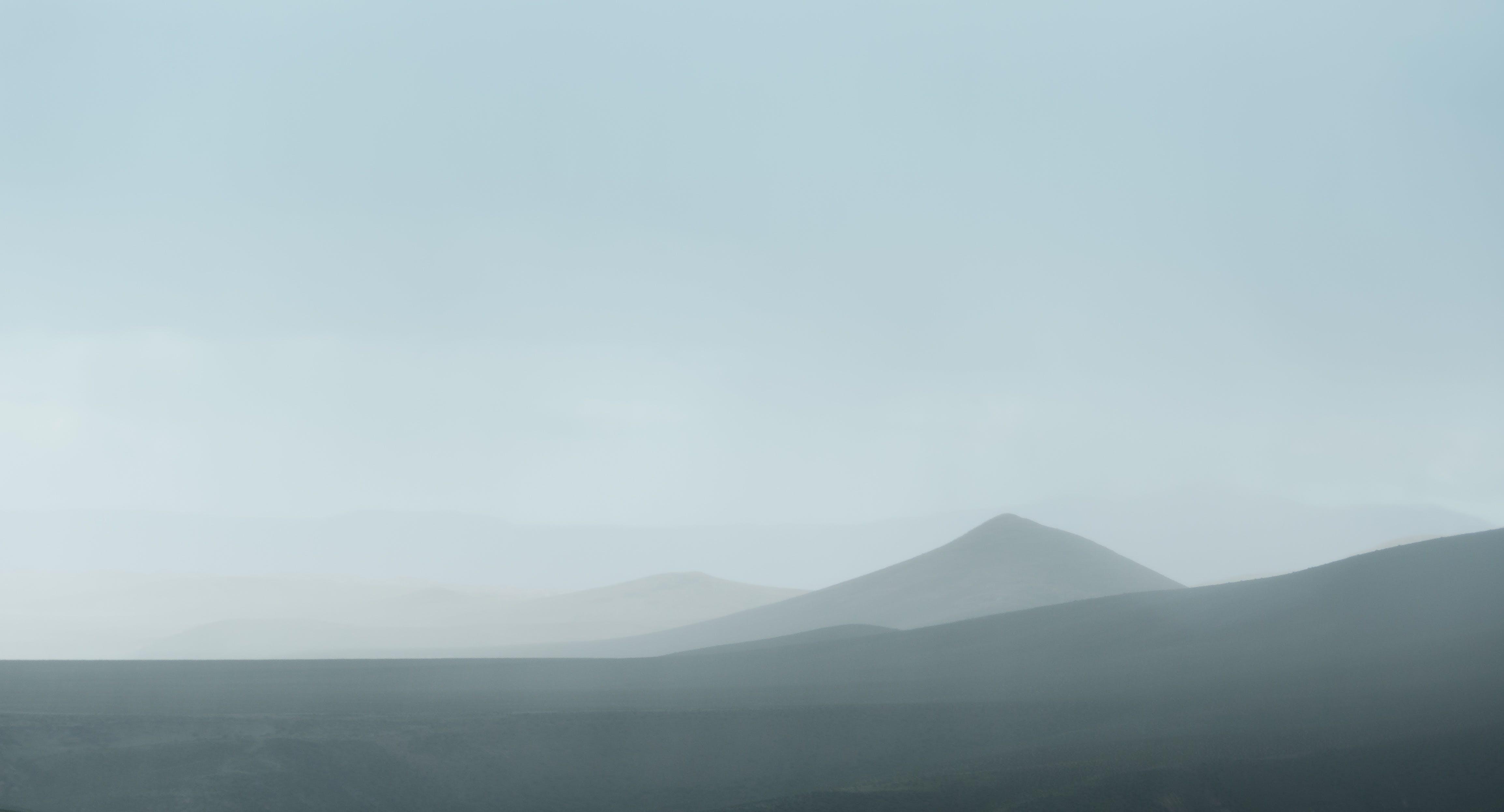Free stock photo of mountains, fog, distance, monochrome