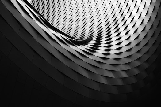 Free stock photo of black-and-white, pattern, architecture, gray