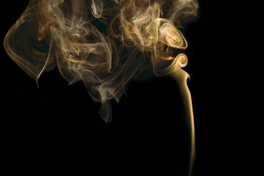 Free stock photo of yellow, smoke, flame, wispy