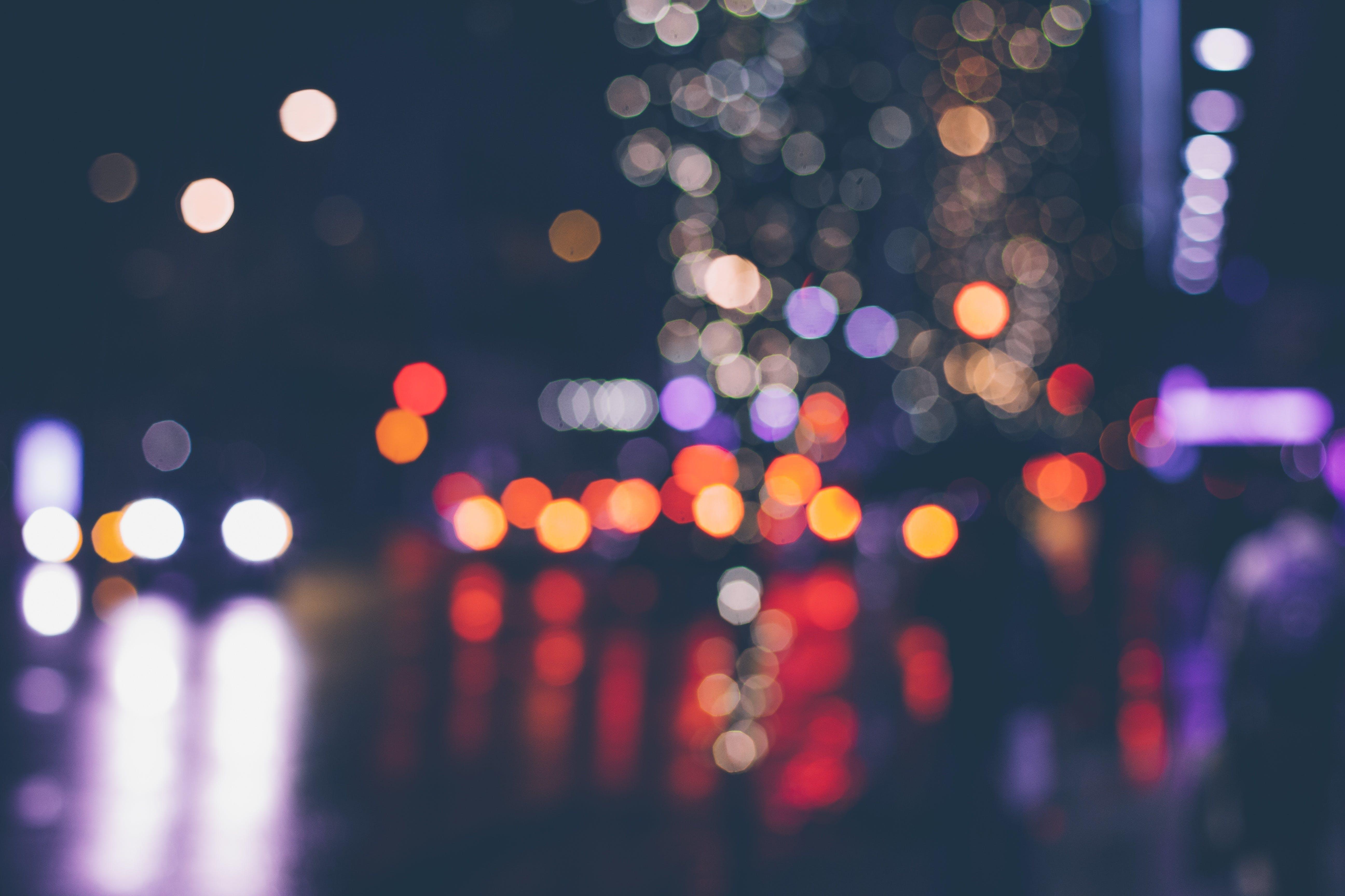 Free stock photo of light, city, night, pattern