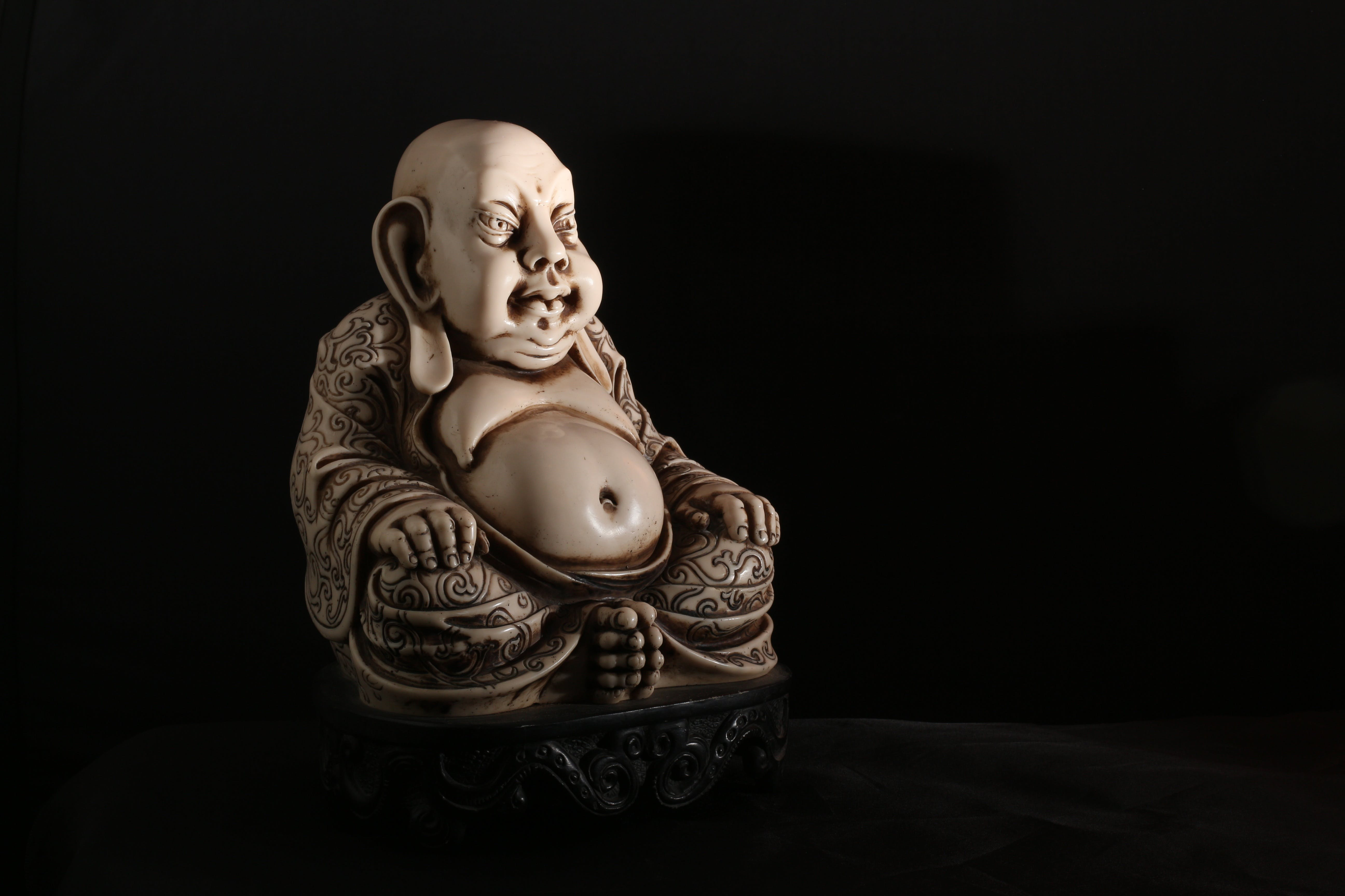 White Budah Figurine