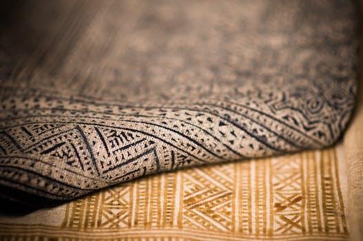 Brown Fold Aztec Textile