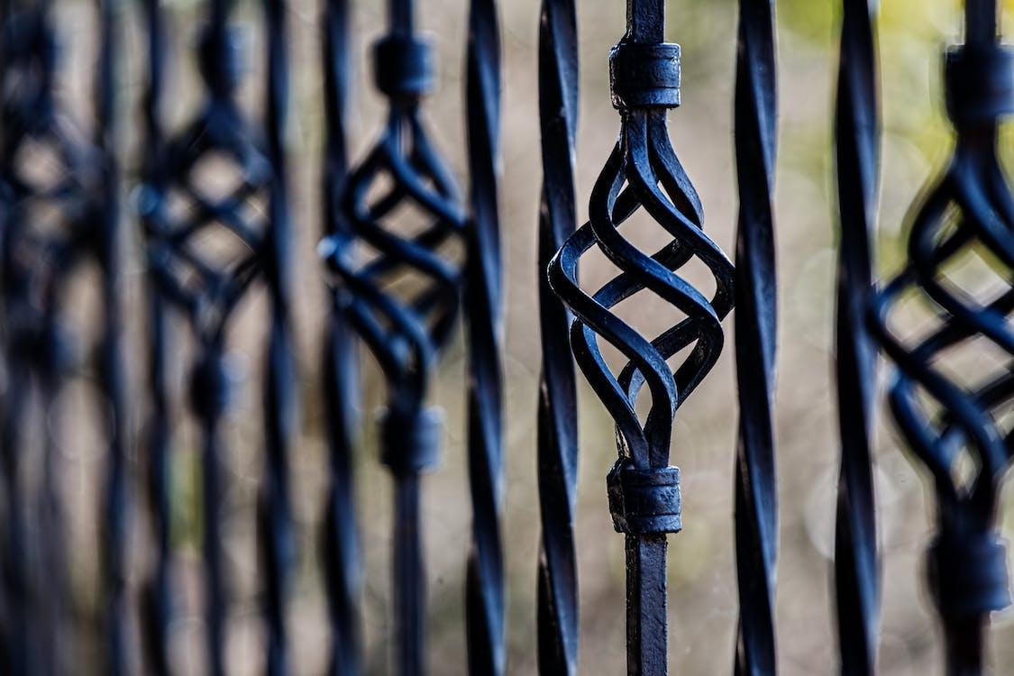 Black Steel Fence during Daytime