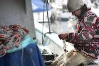 fishing, boat, fishing-net