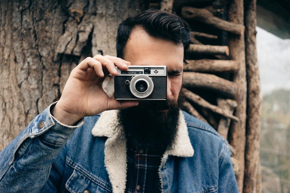 camera, male, man