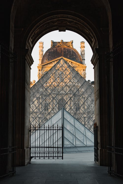The Arch Entrance of Louvre Museum