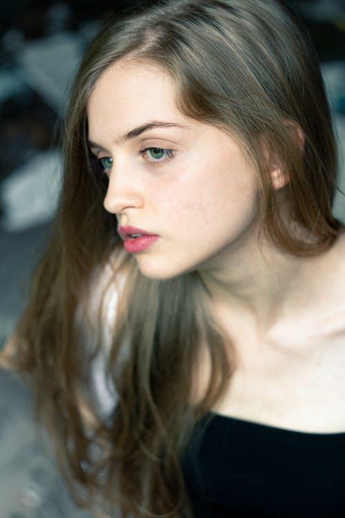 Portrait of Woman's Pretty Face