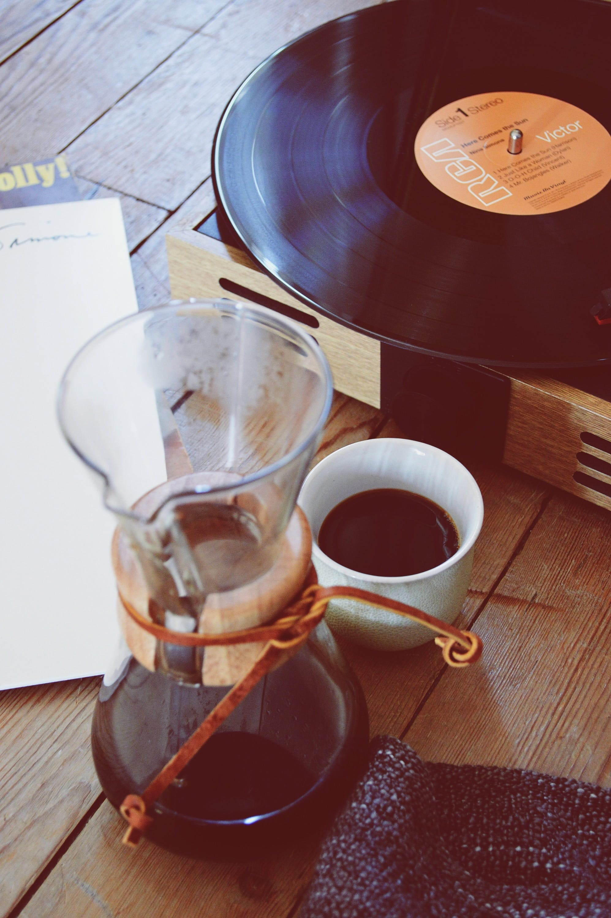 Free stock photo of coffee, notebook, vintage, music