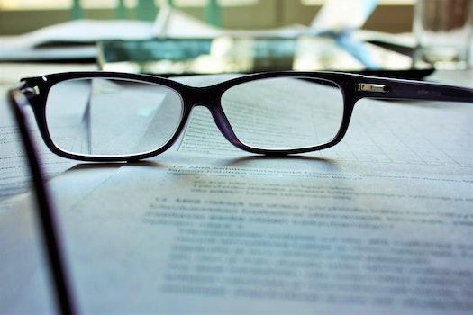 Free stock photo of working, glasses, eyewear, work