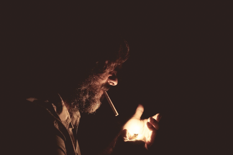 Free stock photo of man, night, cigarette, unhealthy