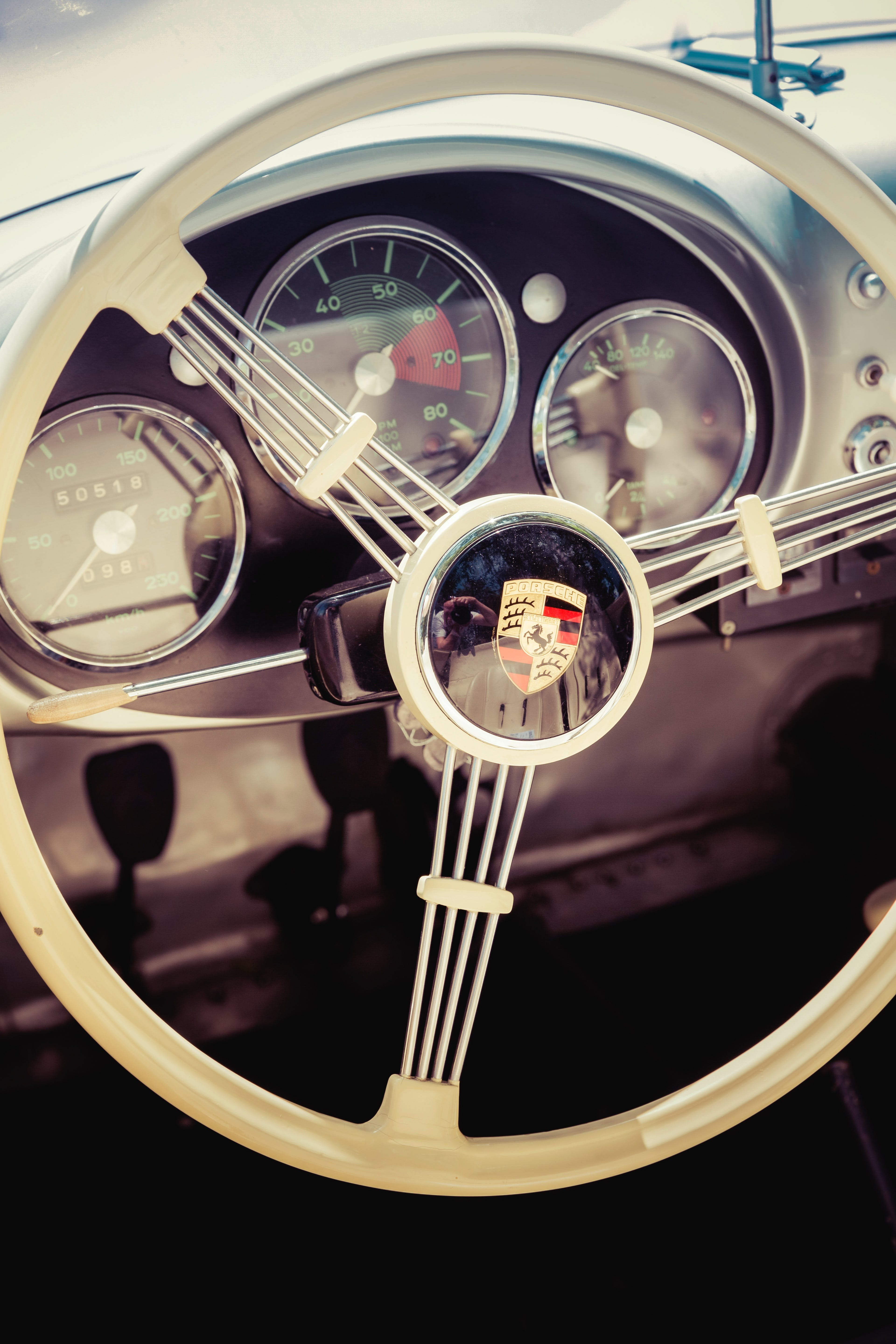 Free stock photo of car, classic car, coat of arms, driving