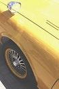 yellow, car, vintage